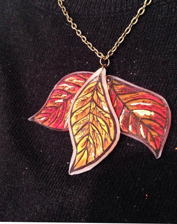 bisuteria ilustrada hojas